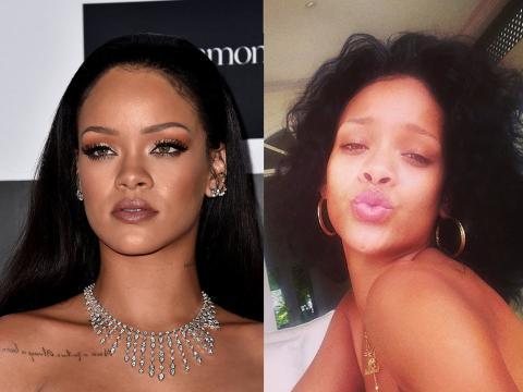 Para Rihanna, el maquillaje es una opción.