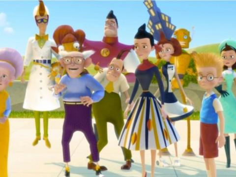"A scene from ""Meet the Robinsons."""