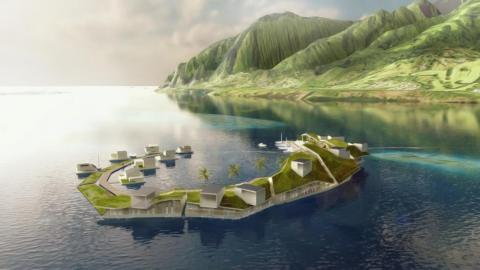 The Seasteading Institute aims to build self-sufficient floating cities.