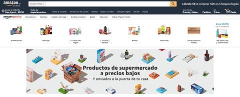 Sección de Amazon Pantry