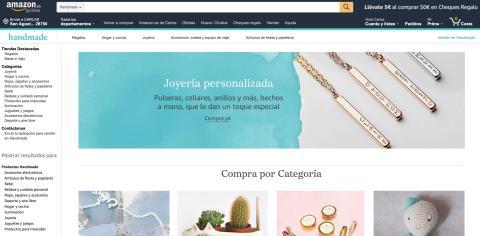 Sección Handmade de Amazon