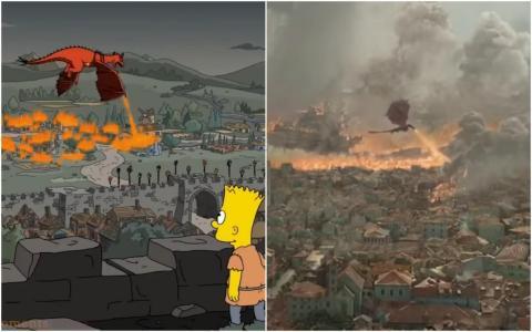 """The Simpsons"" versus ""Game of Thrones."""