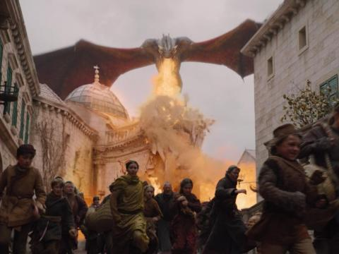"A still from ""Game of Thrones"" season eight, episode five, ""The Bells."""