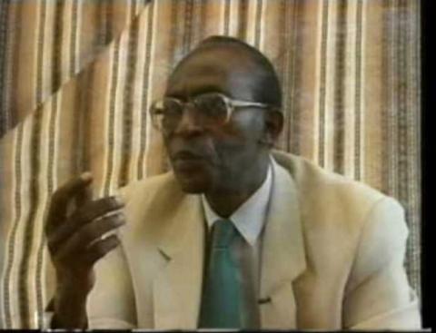 Theodore Sindikubwabo, presidente de Ruanda entre abril y julio de 1994