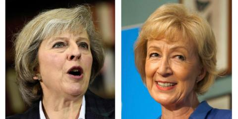 Theresa May y Andrea Leadsom