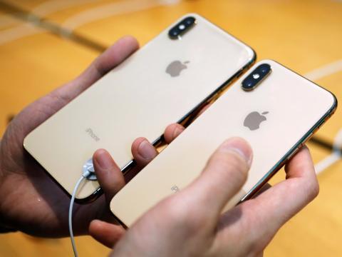 Traseras de los iPhone XS y XS Max