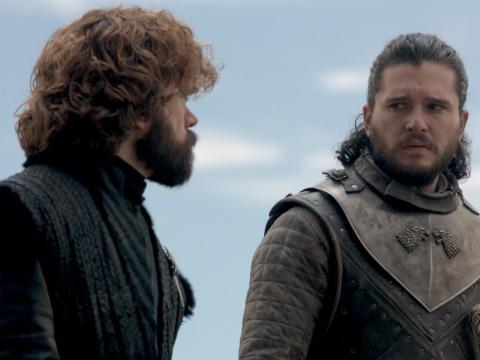 """Peter Dinklage y Kit Harington como Tyrion y Jon en """"Juego de Tronos"""""""