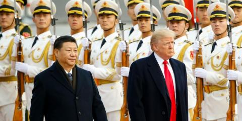 Xi and President Donald Trump in Beijing last year.