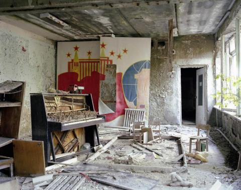 Aula de música, guardería, Pripyat, 2009.