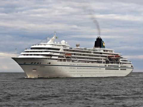 The Amadea cruise ship.