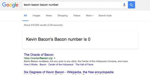 "21. Because all of existence comes back to Kevin Bacon in the end, searching ""bacon number"" after a celebrity's name will tell you just how many degrees of separation are between that celebrity and the star of ""Hollow Man."""