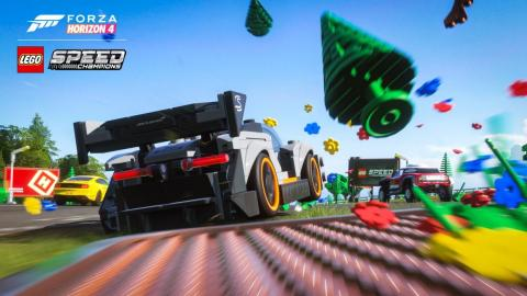 "Instead of a new ""Forza"" game this year, Microsoft unveiled a Lego-themed addition to last year's ""Forza Horizon 4."""