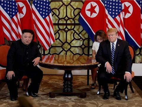 El dictador norcoreano, Kim Jong-Un, y el presidente Donald Trump.
