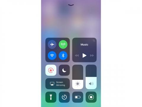 The ability to choose WiFi networks and Bluetooth devices from the Control Center