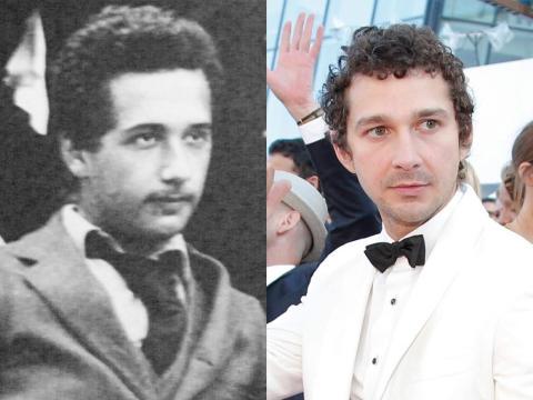 Albert Einstein suele estar asociado a su pelo rebelde y su gran bigote. Pero cuando era más joven, se parecía bastante a Shia Labeouf.
