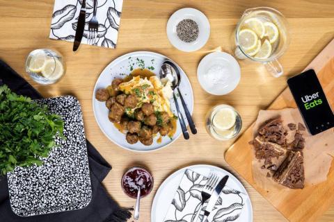 Albóndigas de Ikea en Uber Eats