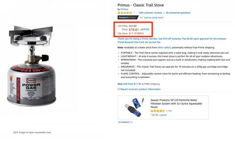 Amazon prices fluctuate often, which can create odd prices (that may save you money).