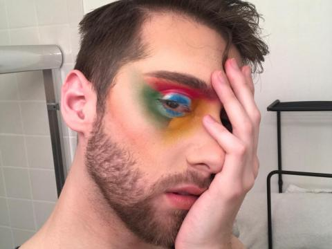 Anna Lytical with a Google Chrome-inspired eye