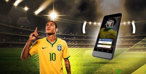 Anuncio de la aplicación Neymar Experience, de Digible-