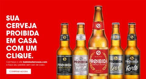 Anuncio de Cerveja Proibida, fabricante brasileño de bebidas