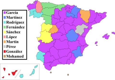 apellidos populares en España