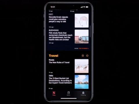 ... the Apple News app ...