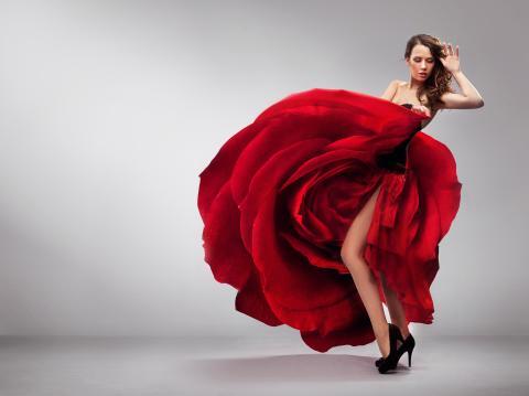 Bailarina de rojo