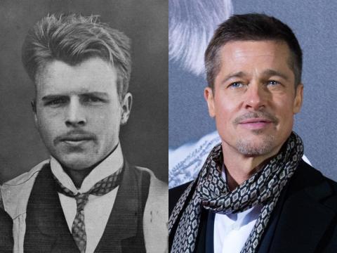Brad Pitt resembles the guy who made Rorschach inkblots.