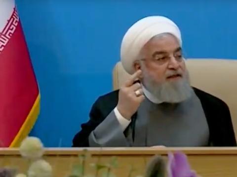 Una captura de pantalla de la intervención televisiva de Rohaní