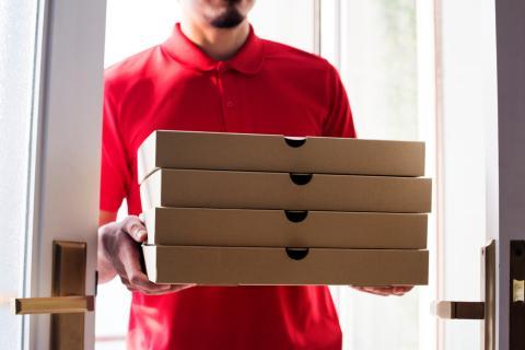 Comida a domicilio pizza