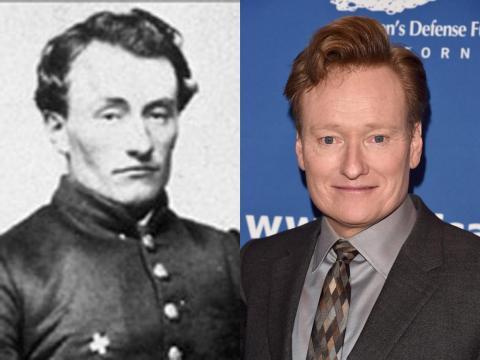 Conan O'Brien puede haber estado haciendo bromas desde la Guerra Civil estadounidense.