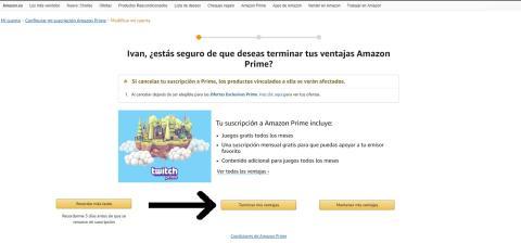 Confirmación cuenta Amazon Prime