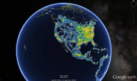 La contaminación lumínica global es tan mala que más de un tercio de la humanidad no puede ver la Vía Láctea nunca.