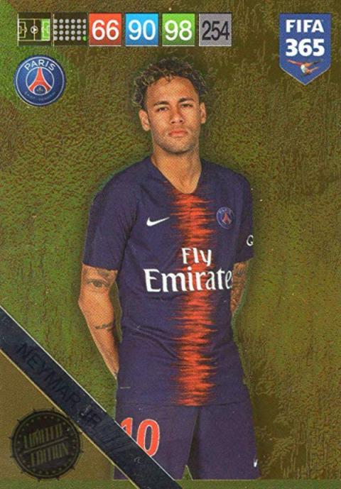 Cromo de Neymar de la colección Adrenalyn XL de Panini