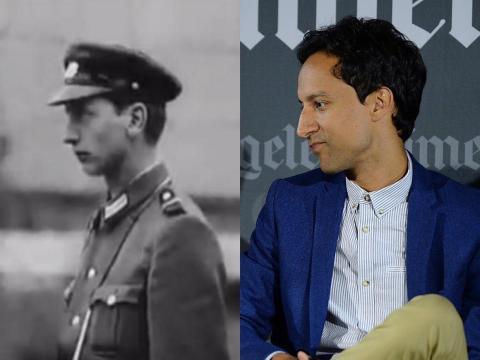 Danny Pudi se parece a un tipo que salió en un documental sobre el Muro de Berlín de 1962.