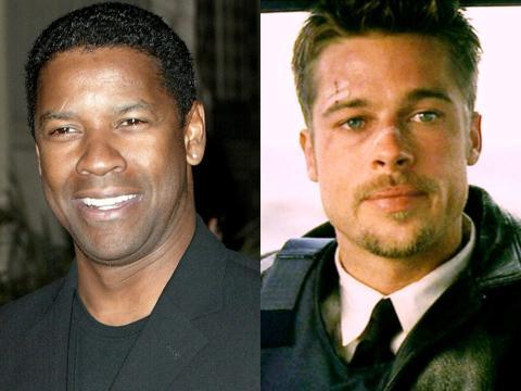 Denzel Washington y Brad Pitt.
