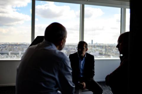 directivos, reunión, ejecutivos