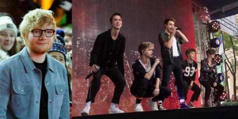 Ed Sheeran en el Festival Internacional de Cine de Berlín en 21018; Why Don't We actuando en septiembre de 2018.