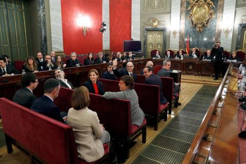 Una estampa del juicio del 'procés' en el Supremo