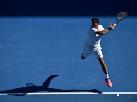 Federer's returns are action-figure-esque.