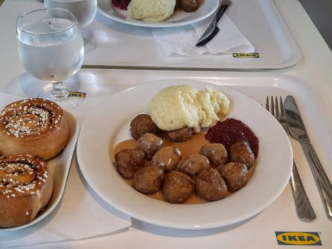 Swedish meatballs and mashed potatoes.