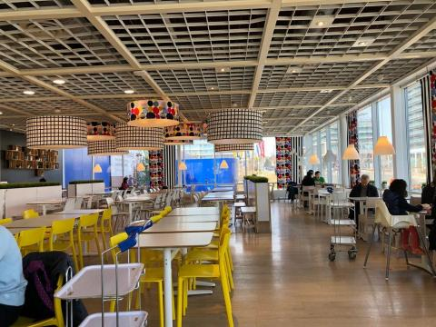 An IKEA food court in Ontario.