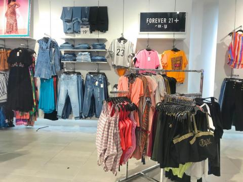Forever 21 does have some merits, however. It includes a full area devoted to its plus-size collection, which H&M lacked.