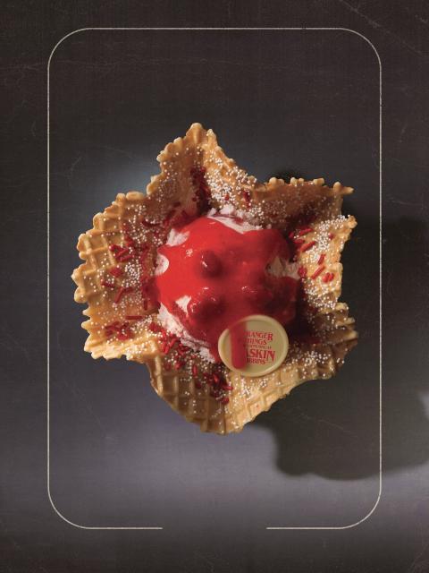 Helado de Baskin-Robbins inspirado en el Demogorgon.