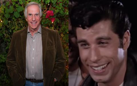Henry Winkler y John Travolta
