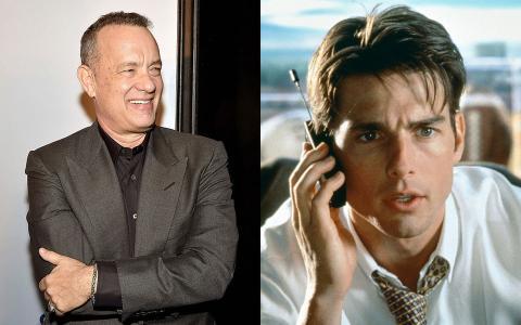 Tom Hanks y Tom Cruise.