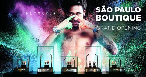 Imagen de una campaña de GaGà Milano protagonizada por Neymar