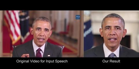 Un fotograma de una demostración en YouTube de 'Sintetizando a Obama'.