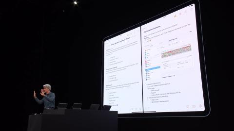Dos ventanas de la app Notas abiertas en pantalla.