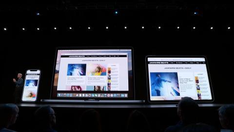 Visión de escritorio en la navegación en Safari del iPadOS.